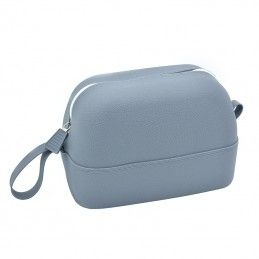 Grey cosmetic pouch