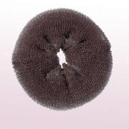 Hair roll, brown, 11cm